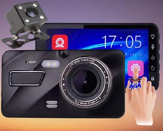 "WideoRejestrator Jazdy 4"" FULL HD + Kamera Cofania Dotykowy Monitor"