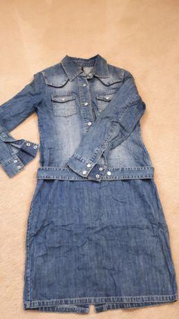 Piękna i seksowna jeansowa sukienka NAF NAF