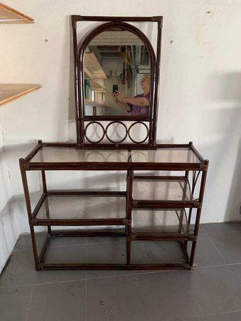 Consola em Bambu com espelho