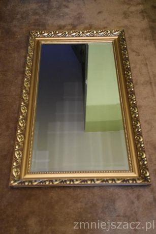 Sprzedam duże lustro w kolorze złotym 117 cm x 67 cm