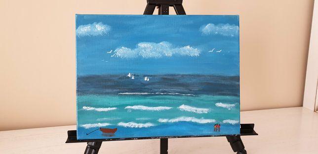 """Картина """"Прогулянка біля пляжу"""""""
