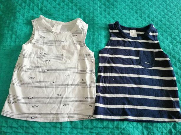 Bluzeczki na ramiączka dla chłopca rozmiar 68 h&m