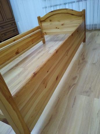 Łóżko sosnowe ze skrzynią 90x187