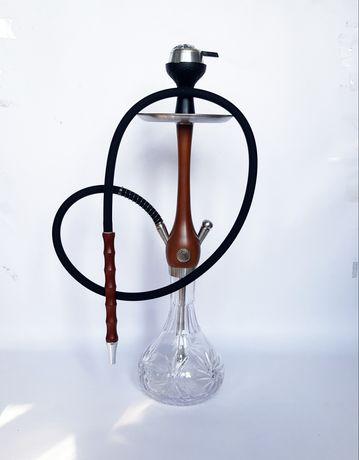 Кальян Wookah (Нержавейка и Дерево) + калауд, чаша, трубка, шланг