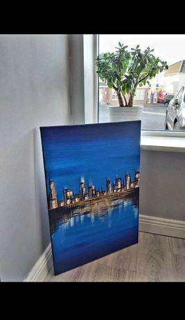 Obraz akrylowy abstrakcja Hollywood miasto