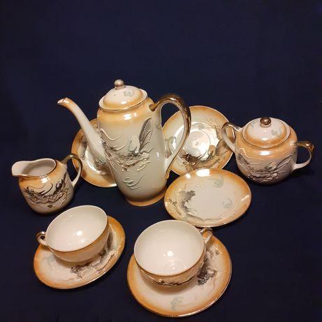 Serviço de café em porcelana