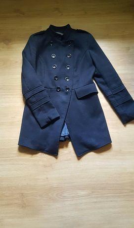 Płaszcz Zara czarny XS 34 na guziki