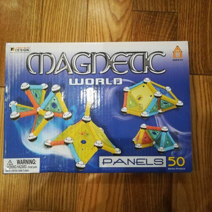 Klocki Magnetyczne PANELS 50 MAGNETIC WORLD Dobiegniew - image 1