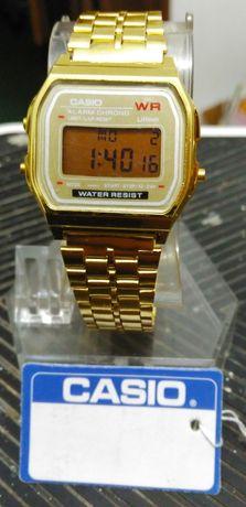 Relógio Casio Digital - Dourado - A159W - Novo