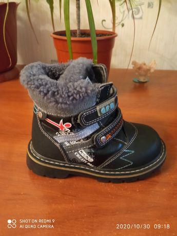 Зимние ботинки 25 размер.