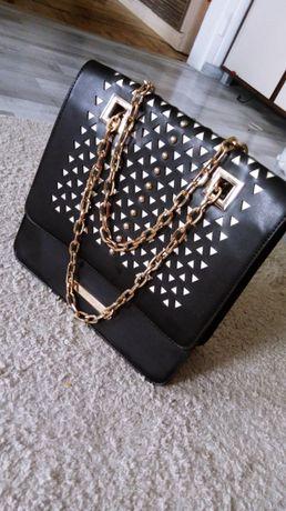Czarno złota torebka