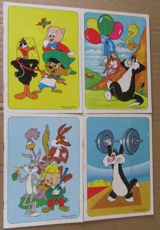 Coleção de 4 cadernos do Warner Bros