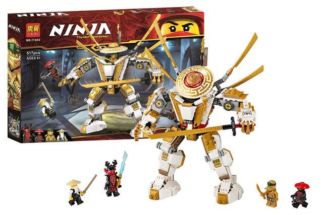 Конструктор Lari 11492 Золотой робот Аналог Lego 71702 Ninjago лего