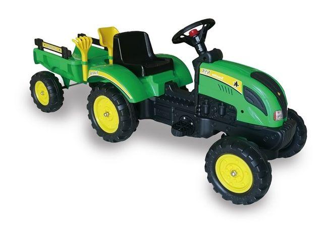 Traktor Branson z Przyczepą Zielony Pedały 135 cm # HIT #