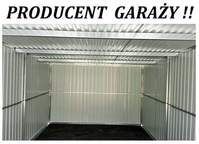 Garaż blaszany 3x5 KONSTRUKCJA OCYNK MOCNY Garaże blaszane CAŁA POLSKA