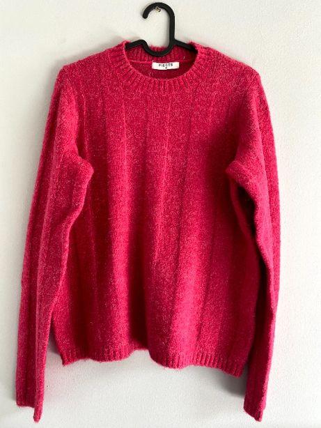 Różowy sweter Pieces XS