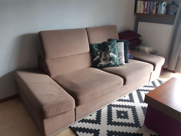 Kanapa z funcją spania oraz fotel