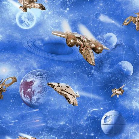 Tapeta ścienna młodzieżowa kosmos planety gwiazdy dla dziecka