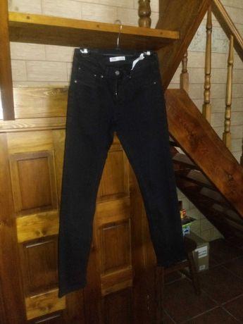Spodnie męskie czarne dżinsy Zara