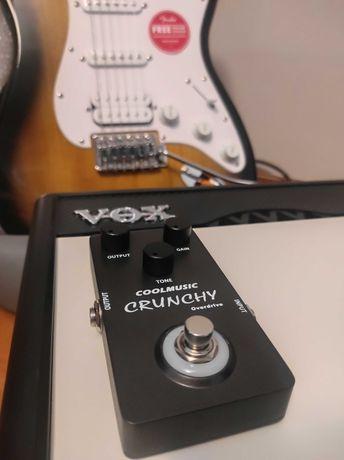 Pedał Efekt gitarowy CRUNCHY Overdrive +Zasilacz