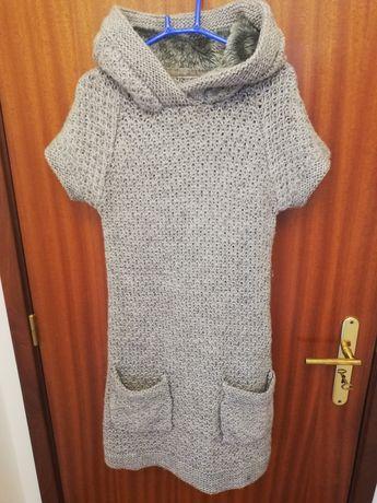 Vestido de lã Zara