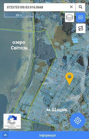 Земельна ділянка в м. Шацьк біля о. Світязь 12 сотих
