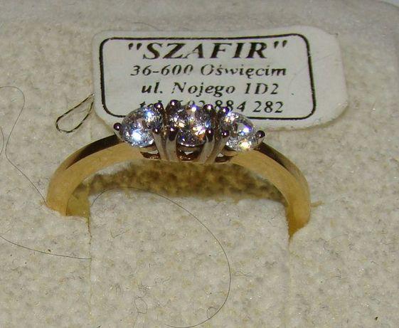 TANIO ! Złoty pierścionek próby 585 14karat-Firma Szafir-Wzór 152