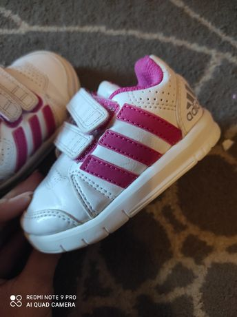 Adidas buty dla bliźniaczek białe dziewczęce