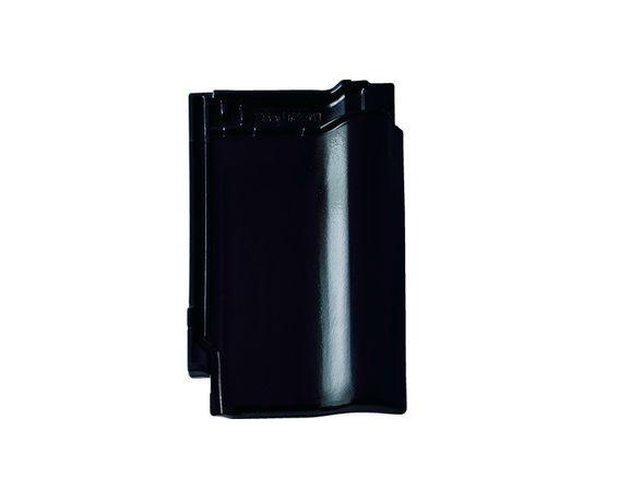 Dachówka  BRAAS RUBIN 9V czarna glazura boczna końcowa spinki