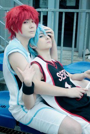 cosplay akashi kuroko no basket seijuro peruka czerwona krótka