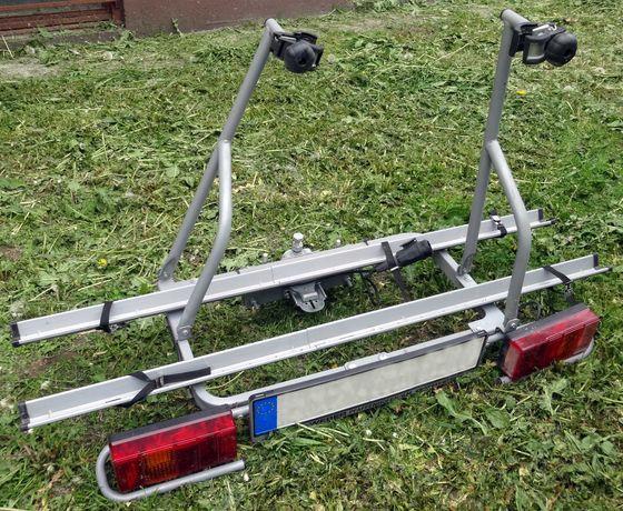 Składany bagażnik na 2 rowery na hak holowniczy solidna platforma
