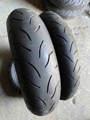 120 60 17 + 160 60 17 Bridgestone, моторезина, покрышка, мотошина скат