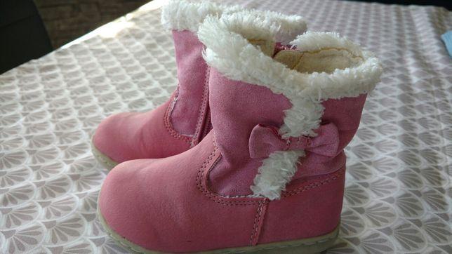 Buty zimowe dla dziewczynki rozm 21, różowe
