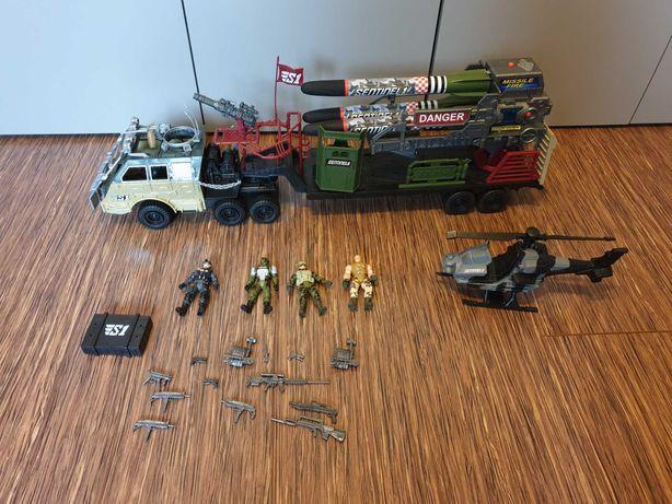 Żołnierze True Heroes Sentinel1 zestaw Ciężarówka i helikopter