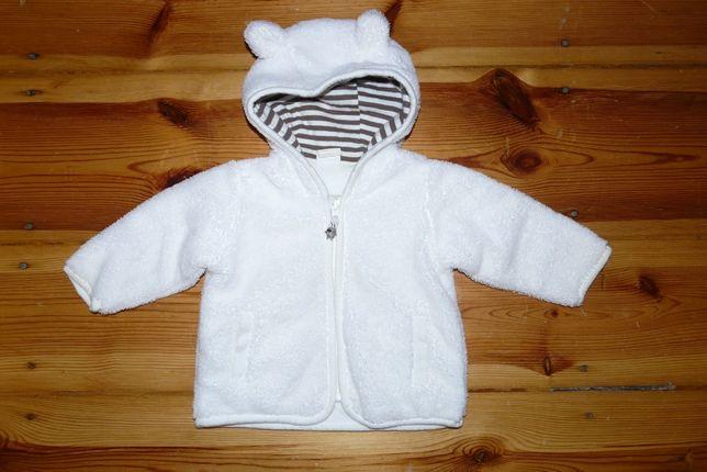 Bluza z kapturem H&M dla dziewczynki, puchata, 62 cm