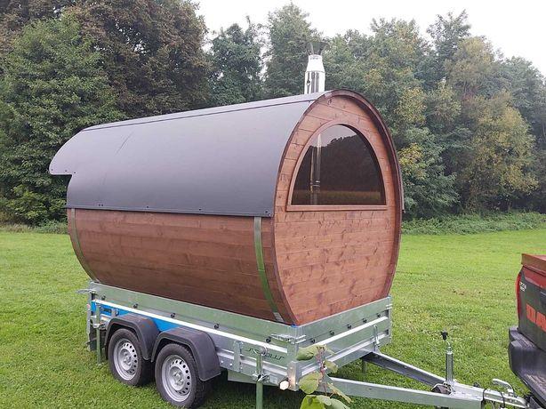 Ekskluzywna Sauna mobilna z przyczepą 2oś od ręki