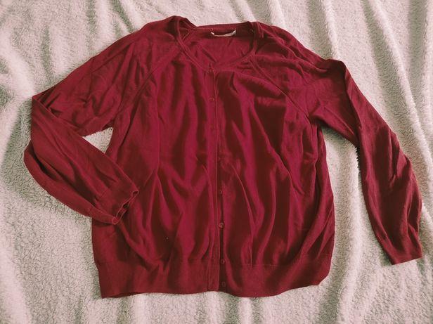 Sweterek rozpinany czerwony rozm XXL (52)