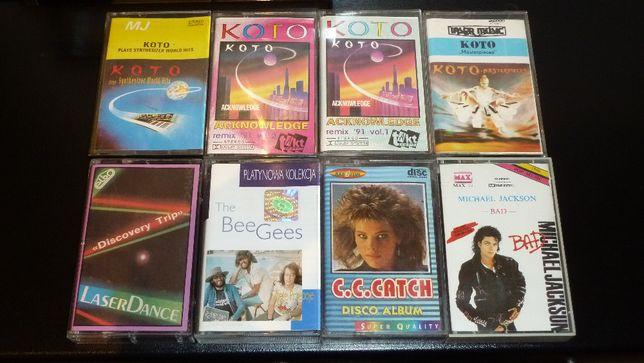 KASETA: 4x Koto, Laserdance, CC Catch, Michael Jackson Bad, Bee Gees