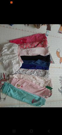 Paka 98-104 legginsy spodnie