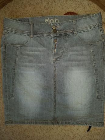 Интересная джинсовая юбка 48-50р