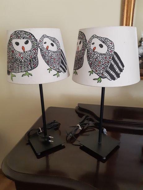 Lampki nocne z kloszami 2 sztuki