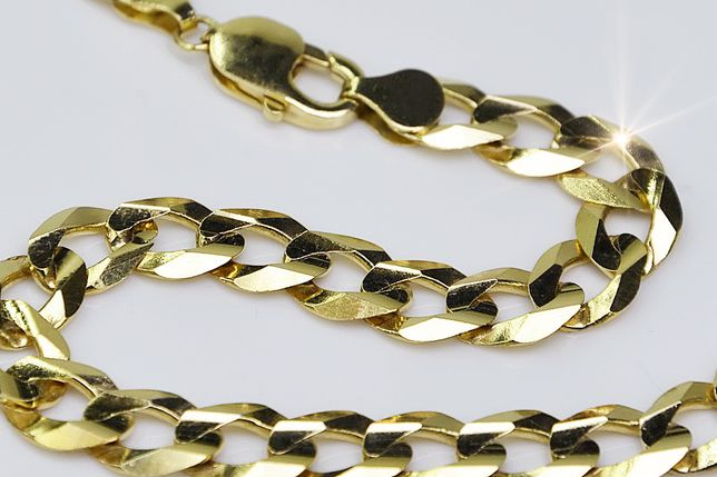 Złoty łańcuszek Pancerka (50g) 585 Włoski łańcuch Tanio! cc001y B