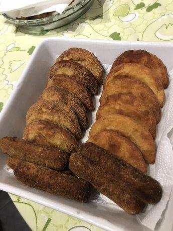 Salgados Rissois croquetes pastéis