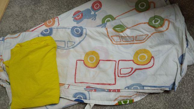 Komplet pościeli dla dzieci autka Ikea