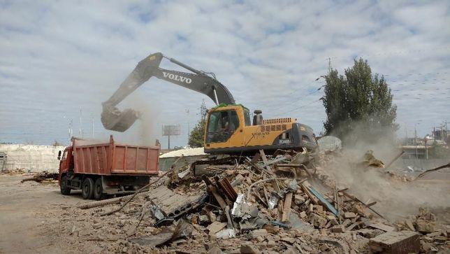 Демонтажные работы демонтаж домов стен. Вывоз строительного мусора ...