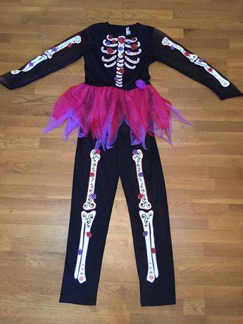 Костюм платье Скелет на Хэллоуин 9 -12 лет