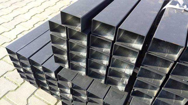 słupek ogrodzeniowy 60x40x1,2 grafit czarny 17,5 zl 1mb netto oc+ral