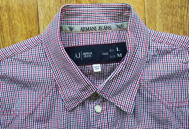 Рубашка Armani jeans на кнопках, M-L
