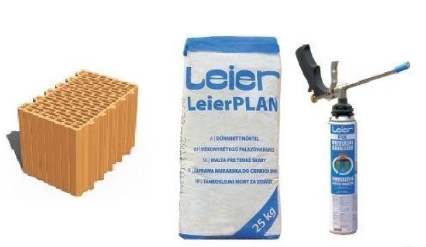 Pustak ceramiczny szlifowany nośny LeierPLAN 25 N+F -Dryfix, Profi,
