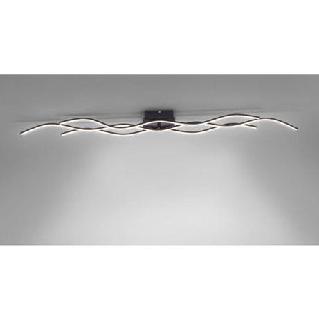 Nowoczesna czarna lampa sufitowa LED WAVE fale 137 cm x 16 cm mat